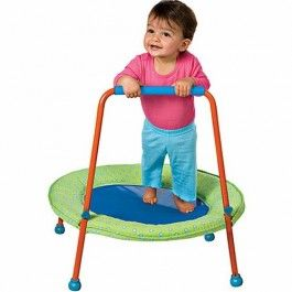 *HAVE* Toddler Trampoline $84.99 The Toddler Trampoline by Alex is an attractive first bouncer for toddlers and young children, just perfect first trampoline. http://www.educationaltoysplanet.com/jumpin-jr-first-trampoline.html
