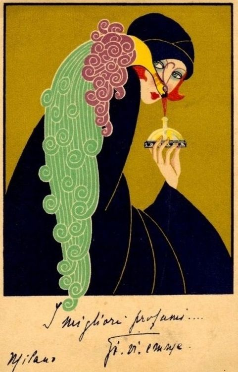 Art deco Italian perfume advertisment