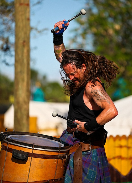 Jamesie Johnston of Albannach  Great group they come to the Greenville, Sc Highland games