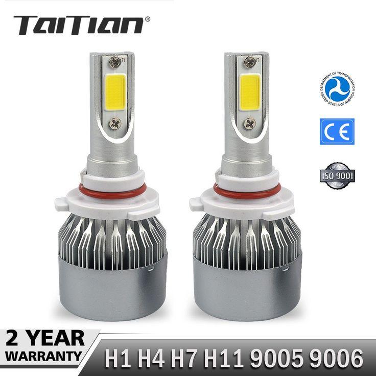 Best price US $19.08  Taitian 2Pcs COB 12V 72W 7600LM 6000K Canbus h7 led headlights Kit H1 H4 hi lo H11 led bulb 9005 HB3 9006 HB4 Bulbs for audi a4  #Taitian #Canbus #headlights #bulb #Bulbs #audi  #Online