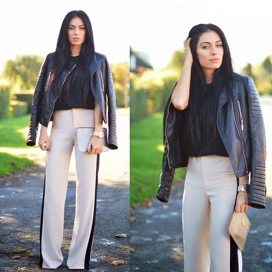Get this look: http://lb.nu/look/5550985  More looks by LYDIA ELISE MILLEN .: http://lb.nu/lydiaelisemillen  Items in this look:  Missguided Corabella Wide Leg Contrast Trousers