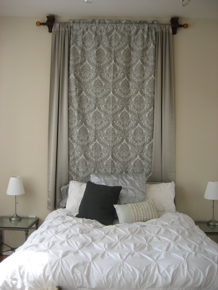 Diy Headboard Made From Curtains Curtain Menzilperde Net