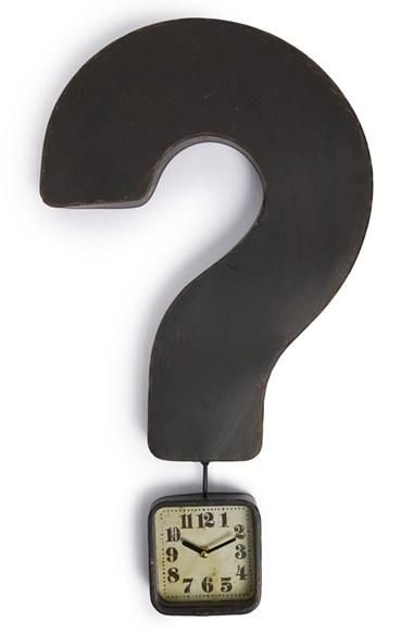 Such a cute clock! | Question mark clock.