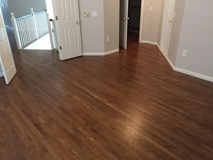 White Oak Installed Sanded Popped Stained With Duraseal