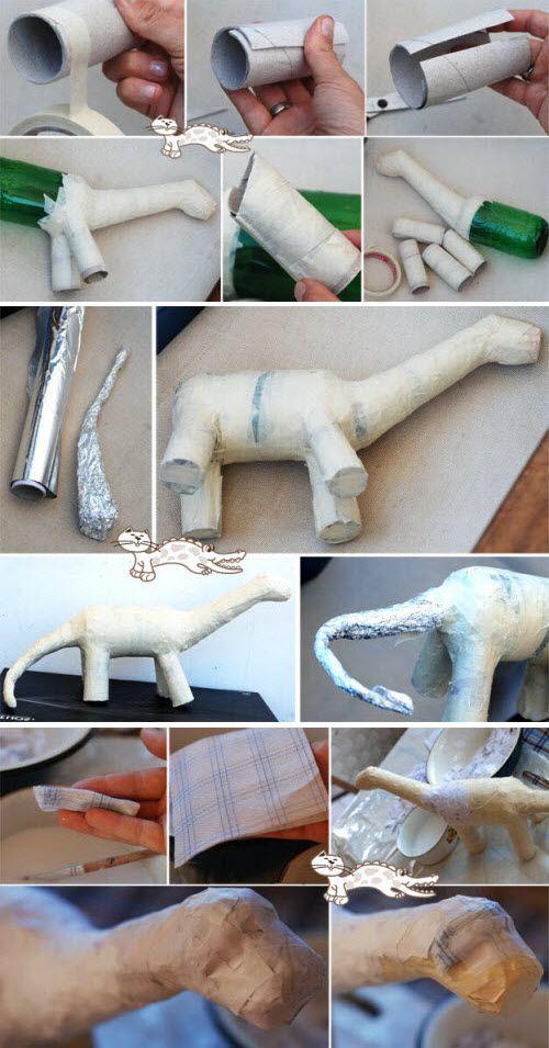 dinosaure papier mache …