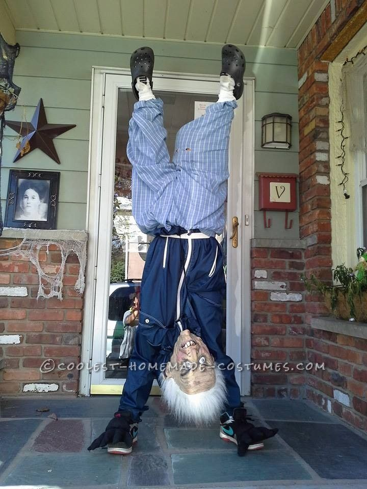 46 best halloween costumes images on pinterest costume ideas upside down old man illusion costume homemade solutioingenieria Images