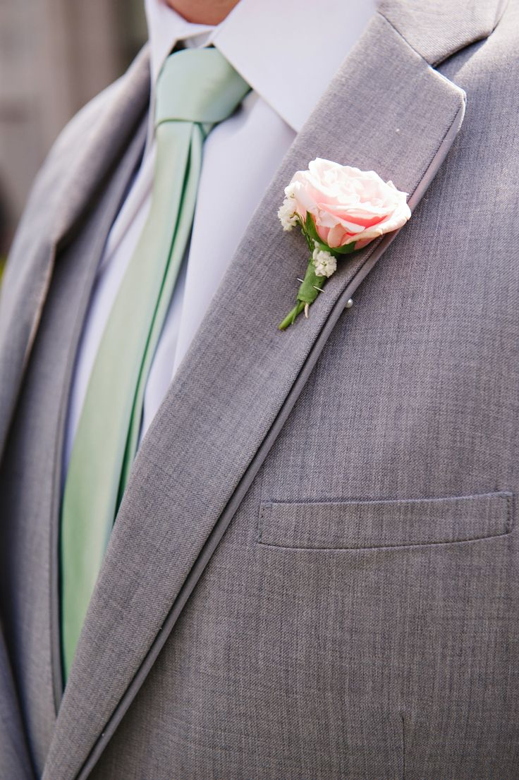 Grey Tux, Mint Tie, Blush Flowers  Mikki platt photography. Gatsby Wedding. Mint gold blush Wedding.