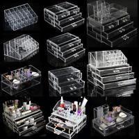 Acrylique Boite Coffret Case Présentoir Bijoux Maquillage Organisateur Rangement