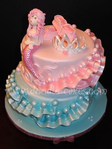 Mermaid 171 Doodle Cakes Com Kuchen Meerjungfrau