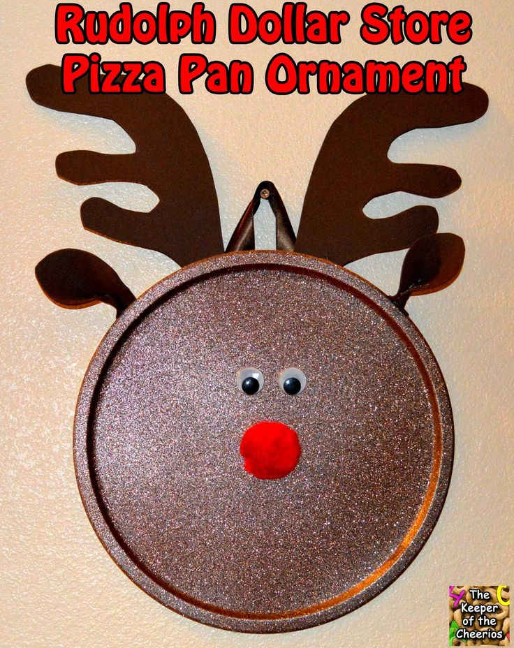 Rudolph Dollar Store Pizza Pan Ornament