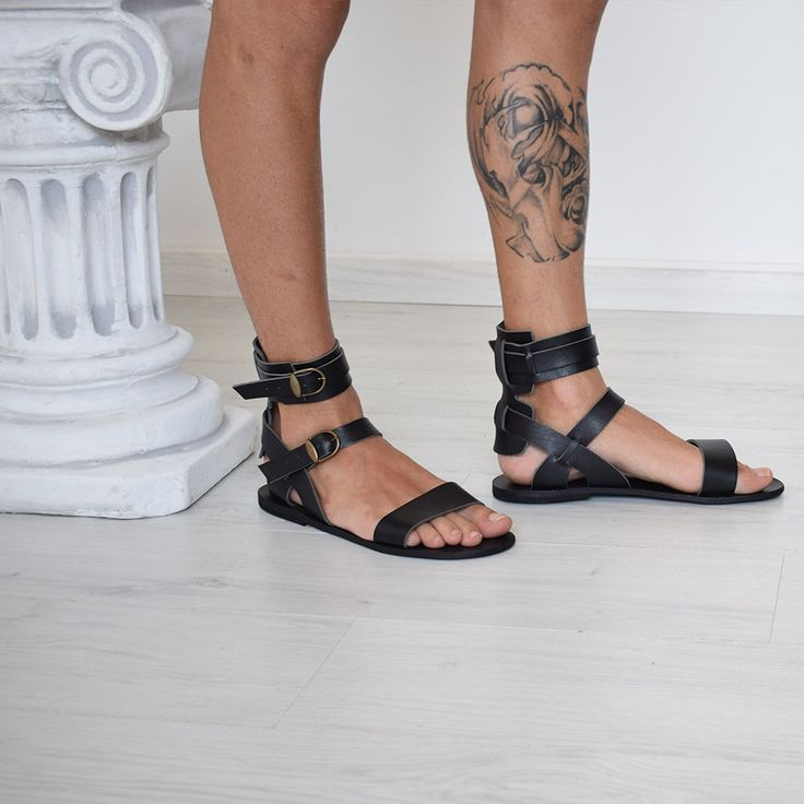 Gift For Men, Gladiator Men Sandals, Men, Black Color, Handmade By Sparta Sandals, Men Gift, High Quality, Genuine Leather.  Handmade sandals, 100% High Quality Genuine Leather. Classic and stylish, handmade unisex sandals in a vast variety of colors, will complement your outfit for casual appeal.It characterize them the natural leather insole, leather outer sole and leather upper, making it the ideal sandal for hot summer days. You will feel your feet cool and restful all day and night.  •…