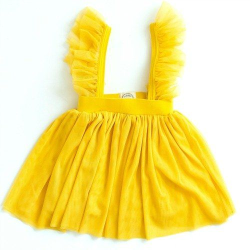 Girl's Yellow Tutu Skirt with Suspender Straps Dance Tutu SALE!!
