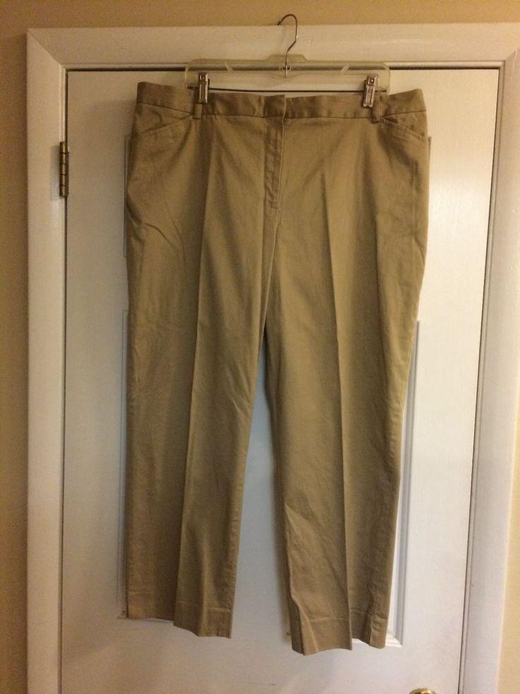 Women's/Ladies Jones Wear Studio Kaki Capri's, Size 18 #JonesWear #CaprisCropped