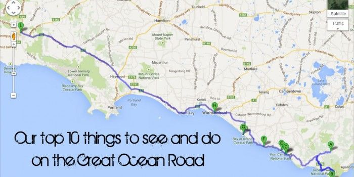 Our Top 10 things to see and do on the Great Ocean Road (mostly free!) Maps included!
