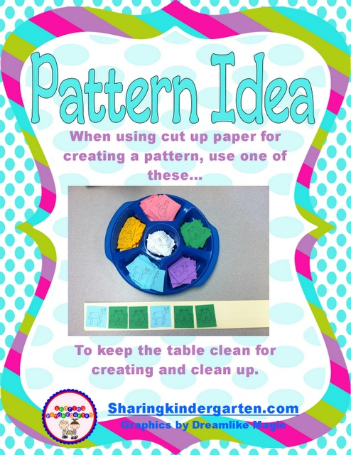 Pattern Idea... so easy to organize and clean up after!