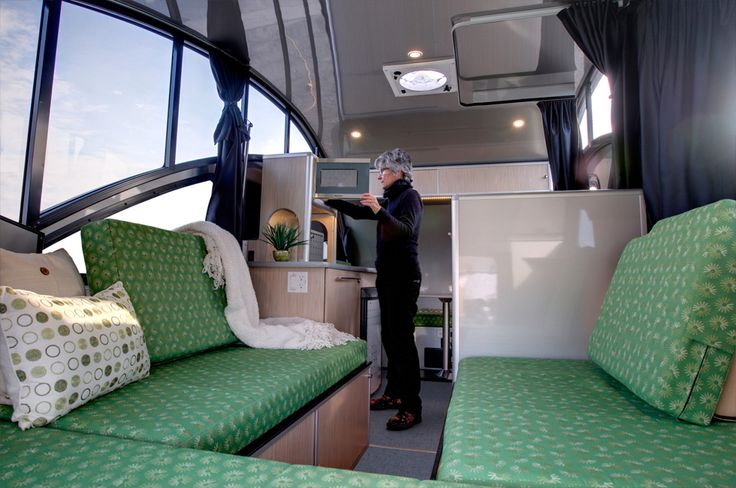 Living in a shoebox   New ultra-light camper trailer with Lego-like modular interior