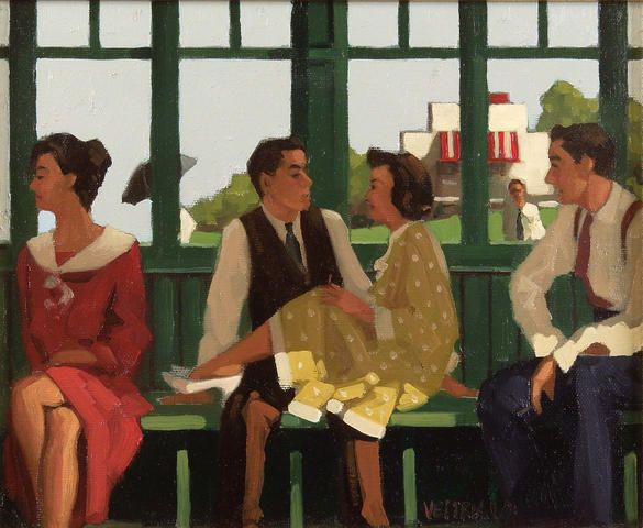 """Jack Vettriano ) """"And some they never do"""""""