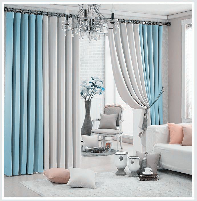 Aliexpress.com : Buy New Arrival  Window Curtains For Living Room +Voile / sheer  2 colors Combined  Blackout Shade For Summer Style Home Trimming from Reliable curtain sensor suppliers on Big Mum