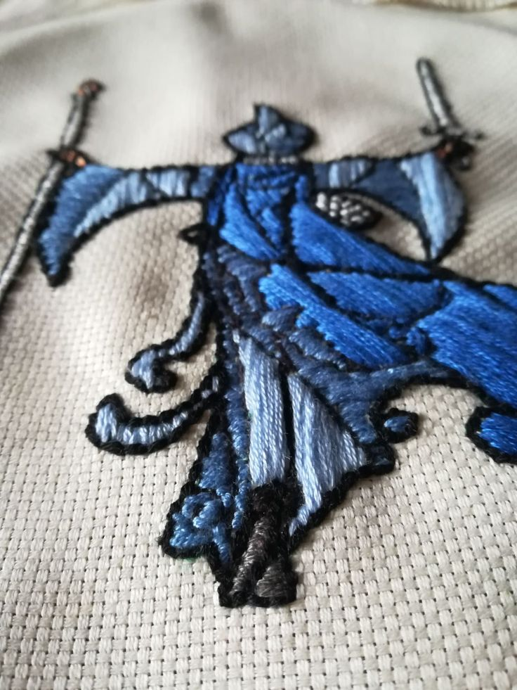 Embroidery. Bordado a mano. Gandalf. Detalle inferior. Basado en ilustración de breath-art, Devianart: https://breath-art.deviantart.com/art/You-cannot-pass-405256408