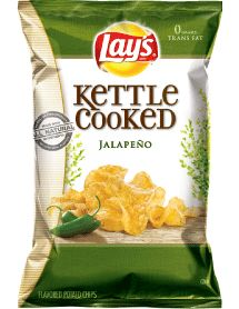 LAY'S® Kettle Cooked Jalapeno Flavored Potato Chips  --I feel like these would taste like the Krunchers jalapeno flavor