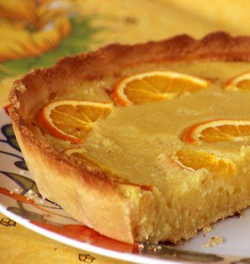 Tarte orange amandes, la recette d'Ôdélices : retrouvez les ingrédients, la préparation, des recettes similaires et des photos qui donnent envie !