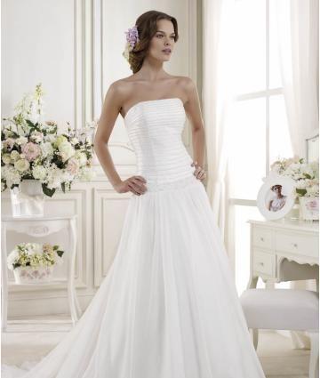 Bez ramínek Bez rukávů Zip Svatební šaty 2014