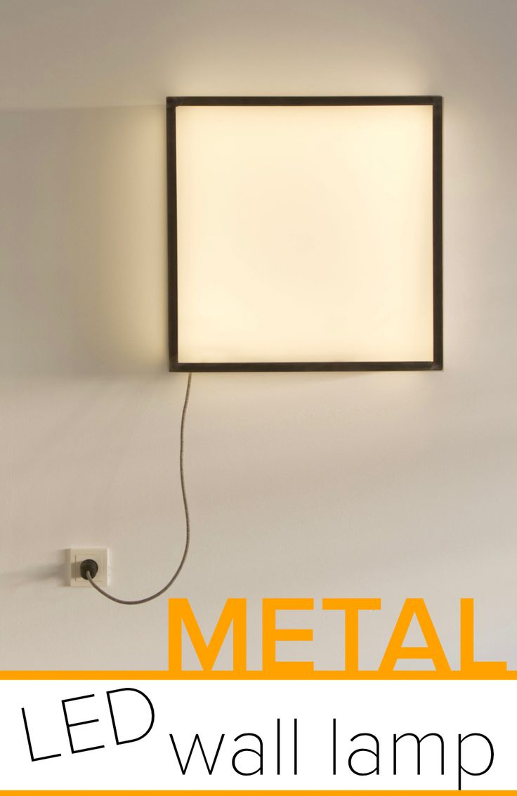 DIY Woodworking Ideas This metal frame wall lamp really fits in with my metal and wood furniture.