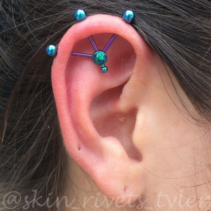 72 best Awesome Industrial Piercings images on Pinterest