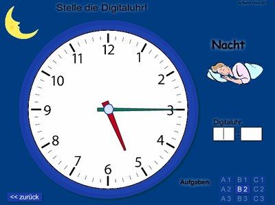 "Hier kann man ""online"" die Uhr lernen. http://rixdorfer.be.schule.de/service/lernen-online/mathe/uhr-lernen"