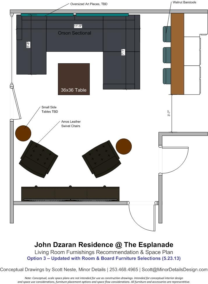 Space Plan with Room & Board Furniture