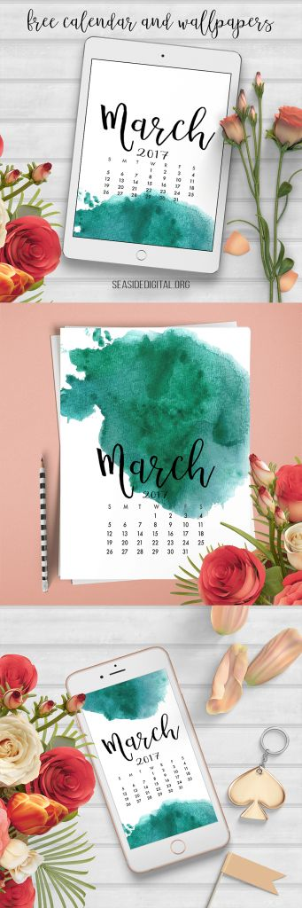 March 2017 Free Calendar and Wallpapers