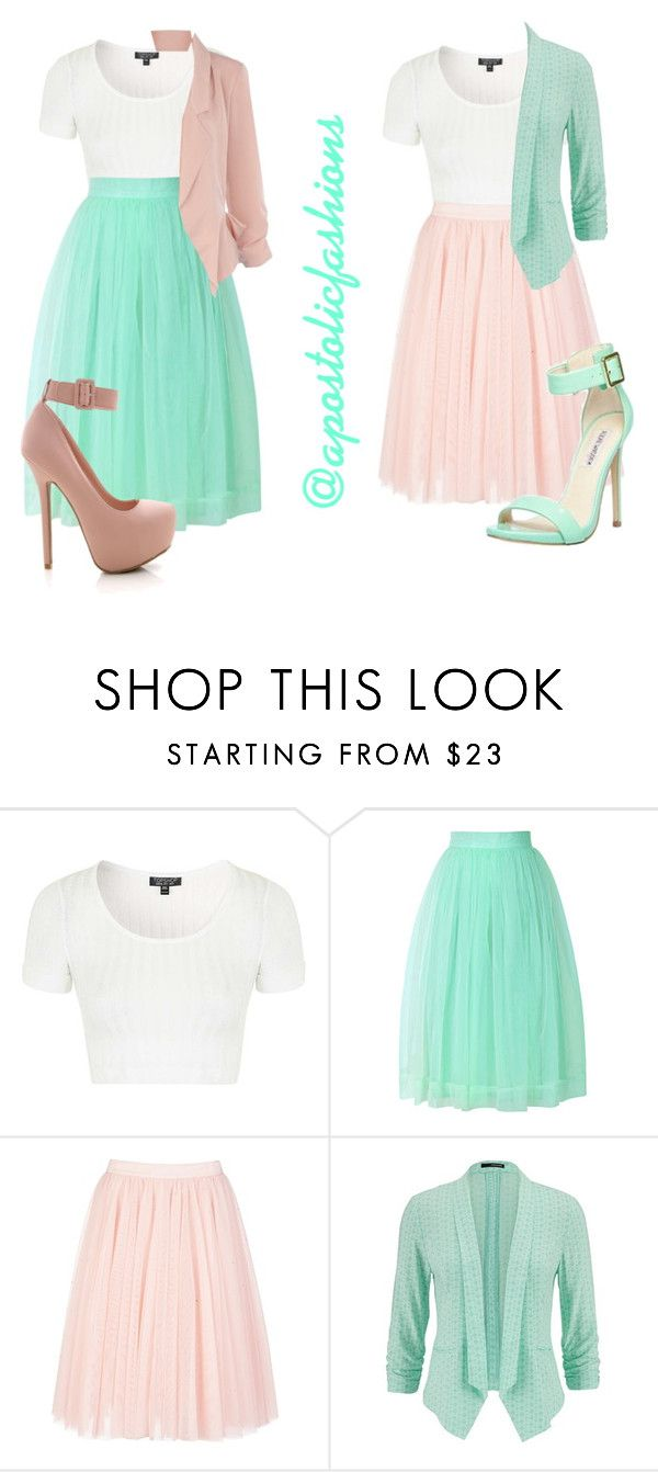"""""""Apostolic Fashions #1126"""" by apostolicfashions on Polyvore featuring Topshop, Chicwish, Ted Baker, maurices and Steve Madden<< I would ditch the sweater, but still cute."""