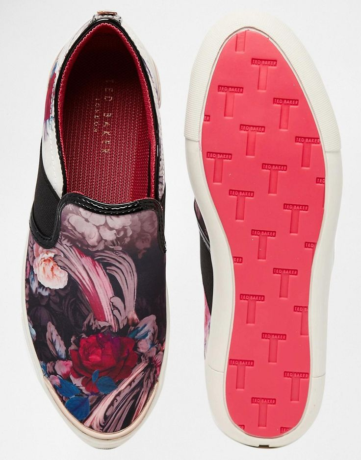 Image 3 of Ted Baker Laulei Floral Print Slip On Trainers