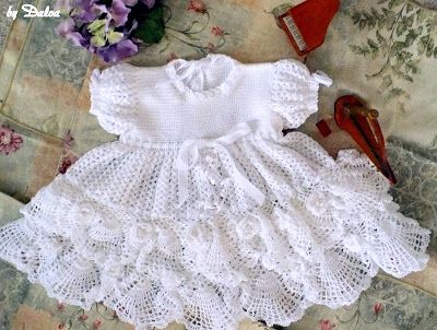 Free Crochet Dress Patterns In English : The pattern is in english! Crochet~Baby Dresses ...