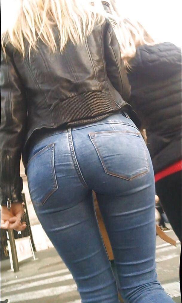 Sexy jeans ladies bending over advise