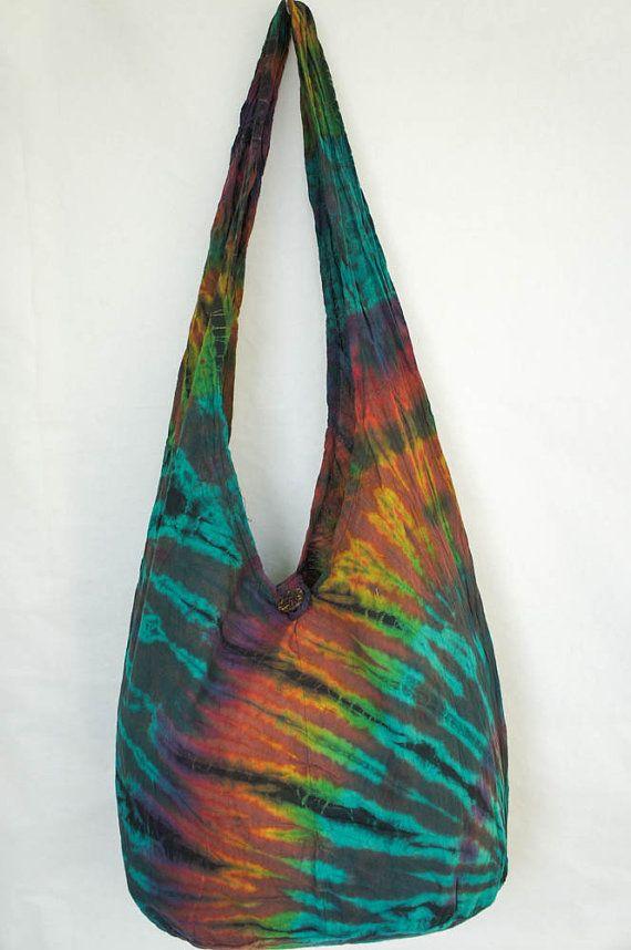 YAAMSTORE green safari handmade Tie die sling bag by yaamstore, $11.99