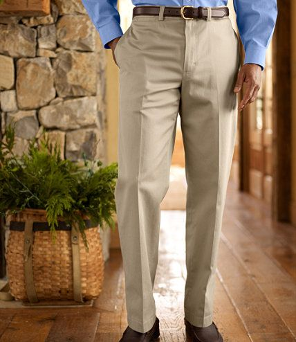 Wrinkle-Resistant Dress Chinos, Classic Fit Plain Front: Chinos | Free Shipping at L.L.Bean
