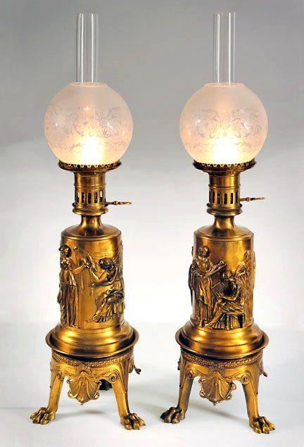 Par de Barbedienne lámparas.