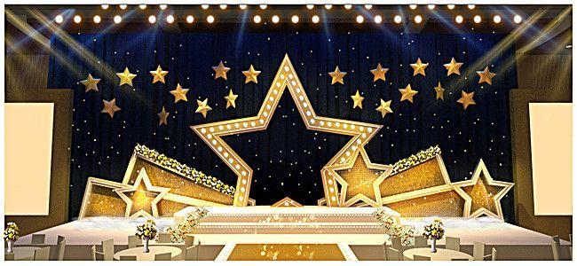 Gold Stars Wedding Stage Background Stage Background Wedding
