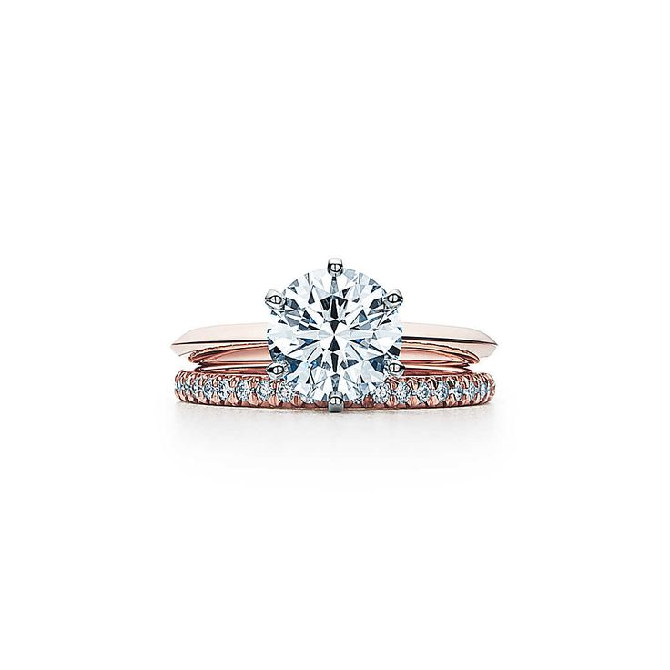 Le Tiffany® Setting en or rose 18 carats Bagues de Fiançailles | Tiffany & Co.