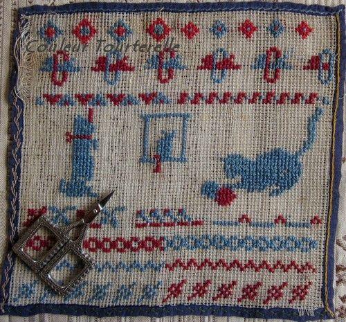 Marquoir au chat bleu by Couleur Tourterelle