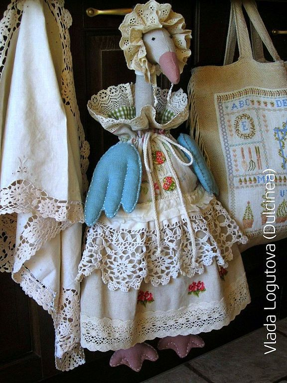 Купить Гусь пакетница Елизавета Петровна - гусь, гусь-пакетница, пакетница, мешочек, мешочек для хранения