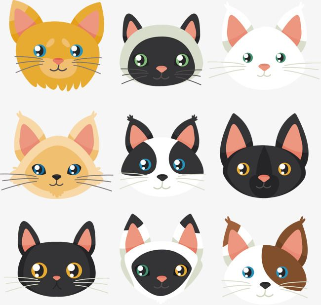 Vector Painted Cat Avatar Cat Vector Vector Hand Painted Png Transparent Clipart Image And Psd File For Free Download Cat Vector Cat Background Hand Painted Cat