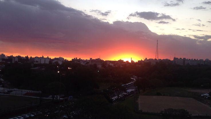 Beautiful sunset in Montevideo - Uruguay