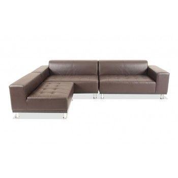 Chaise Lounge Sofa Phantom Sectional Leather Modern Sofa Brown Clearance