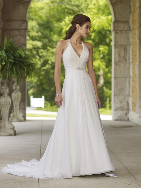 White Halter Wedding Dress of Spring 2011