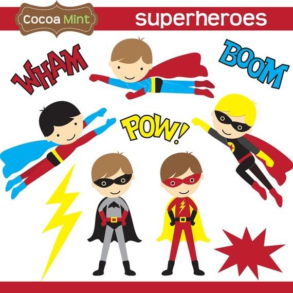 super hero clip art