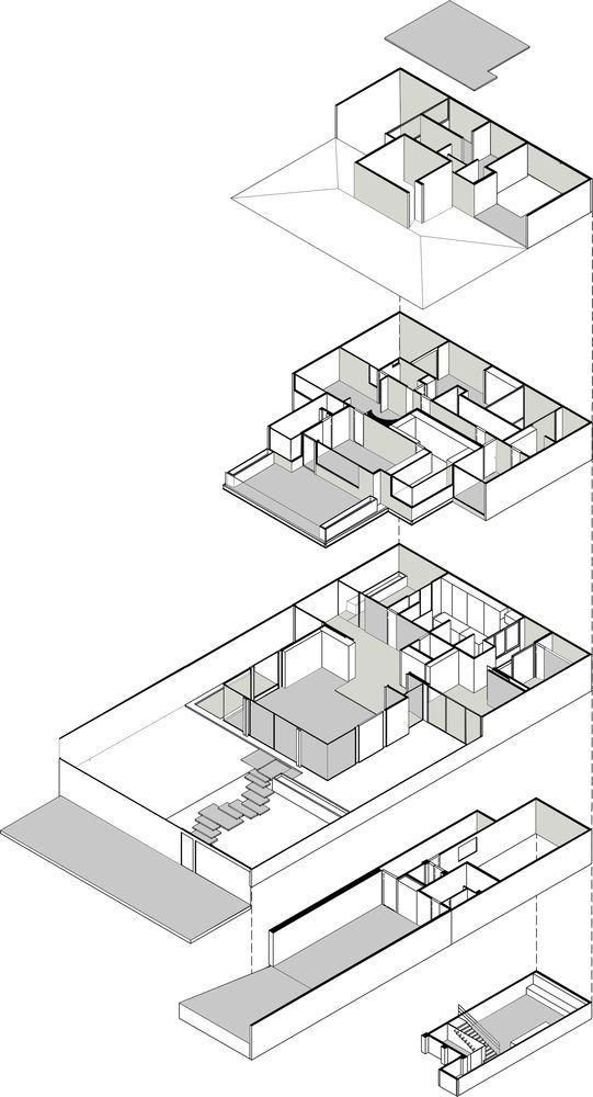 Casa Lomas II,Axonometric