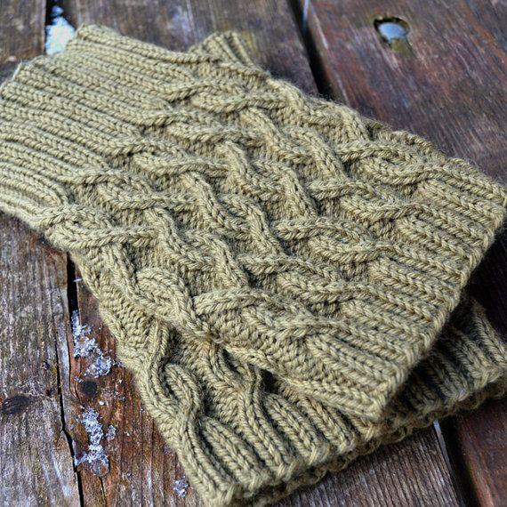 Cabled Boot Cuffs Knitting PATTERN PDF 4-Way by ApiaryKnits