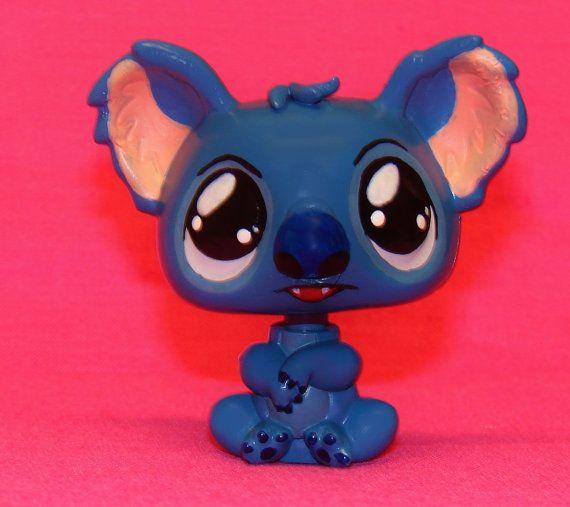 Kawaii Disney Lilo & STITCH OOAK custom figure Littlest Pet Shop LPS Hand painte